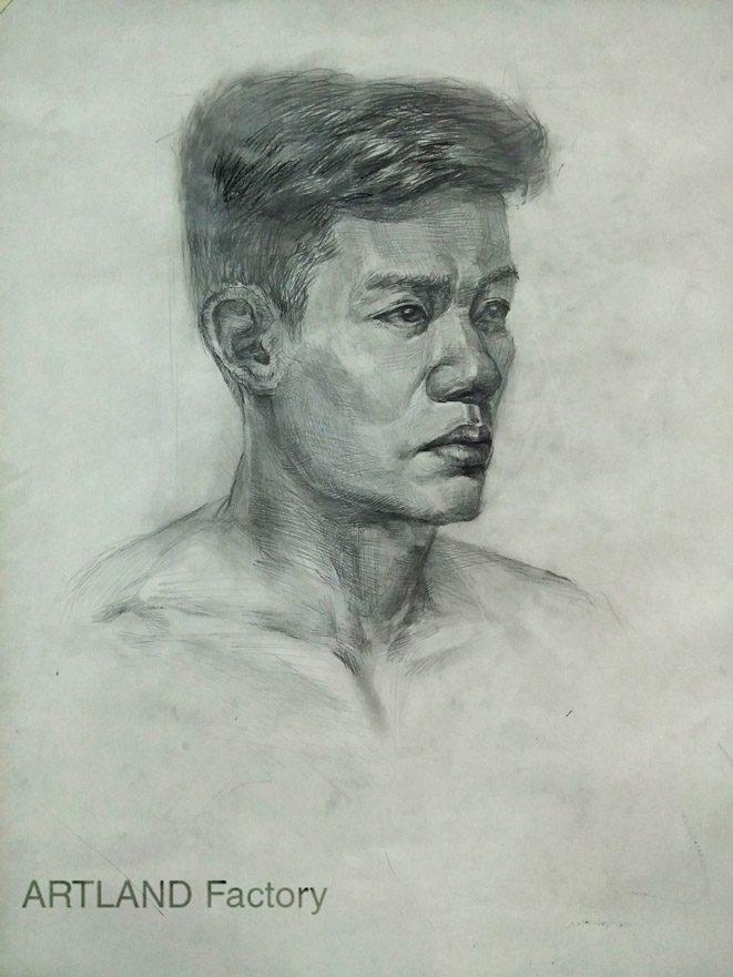 bài hình họa chân dung nam  ART LAND Quận Bình Thạnh 2016 06 04 20