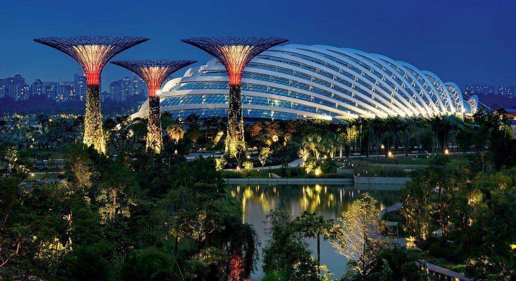 Singapore Garden By The Bay LUYỆN THI KIẾN TRÚC CẢNH QUAN VÀ CƠ HỘI NGHỀ NGHIỆP SAU TỐT NGHIỆP Gardens by the Bay hinh anh 3 1024x559