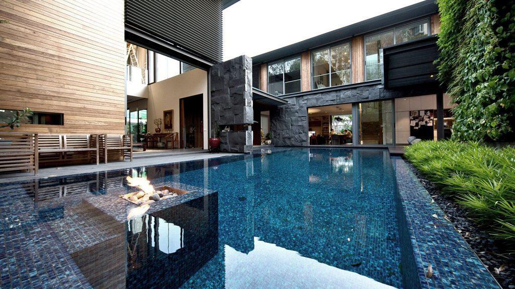 Kiến trúc biệt thự có hồ bơi