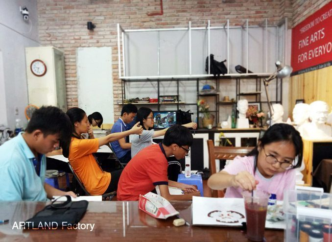 Lớp vẽ luyện thi khối H tại tp HCM  KHAI GIẢNG KHÓA LUYỆN THI KIẾN TRÚC – ART LAND Lop ve luyen thi khoi h tai tp hcm