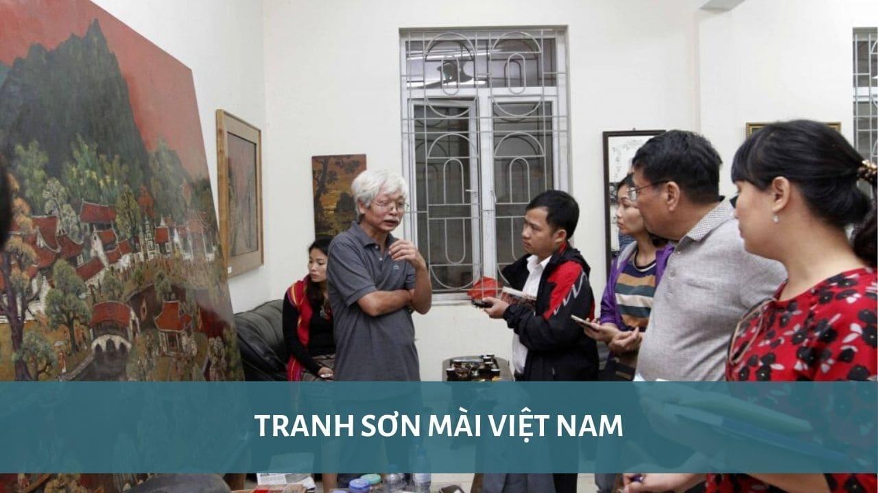 Hinh ảnh; tranh sơn mài Việt Nam - Nguồn internet