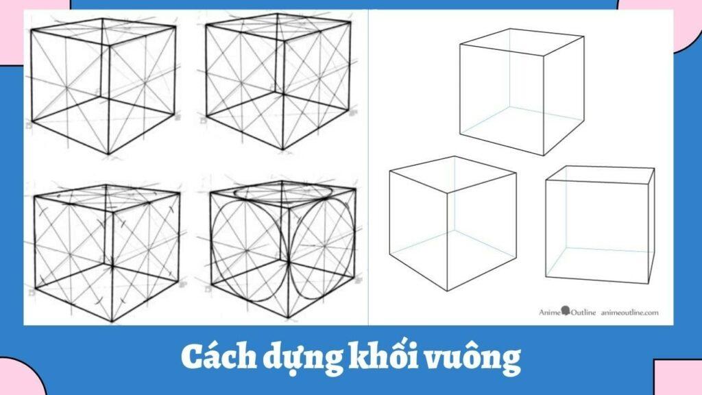 hướng dẫn vẽ khối vuông (Nguồn: animeoutline.com)