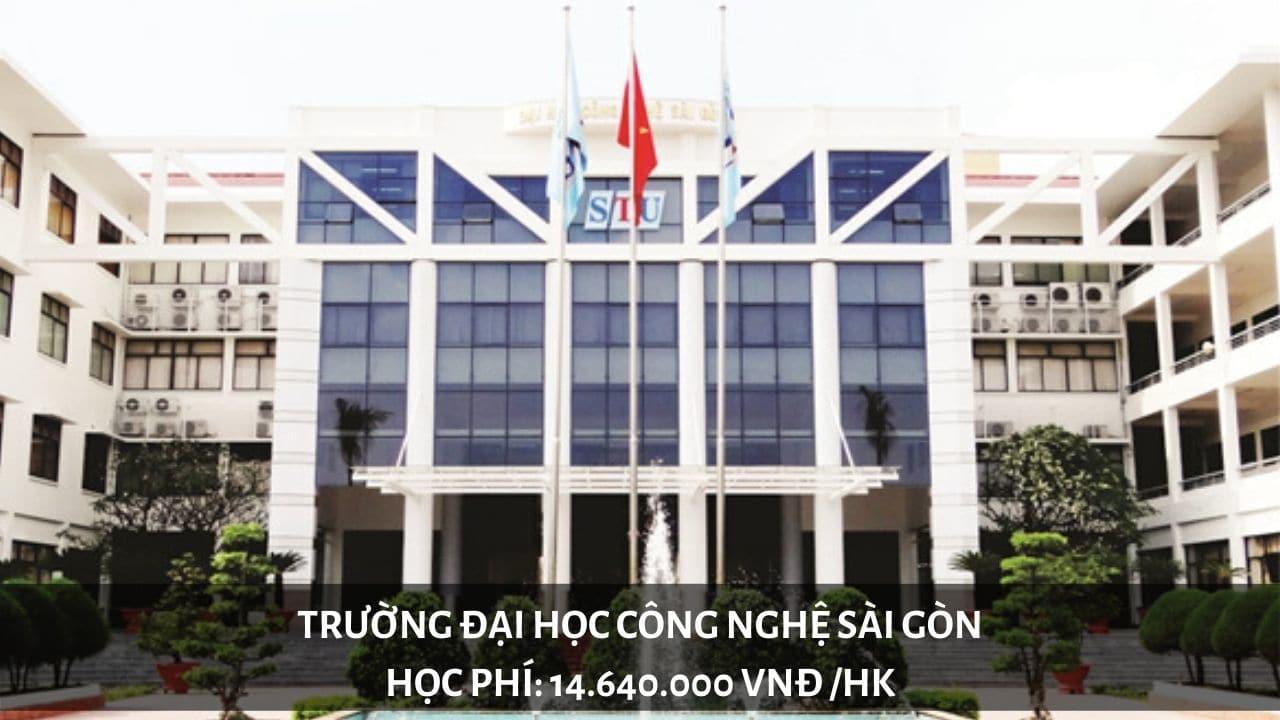 Học phí trường Đại học Công Nghệ Sài Gòn năm 2019
