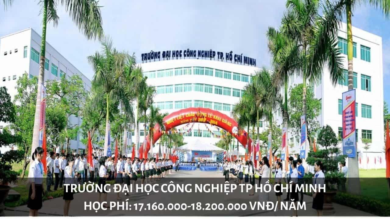 Học phí trường Đại học Công Nghệp TP Hồ Chí Minh năm 2019