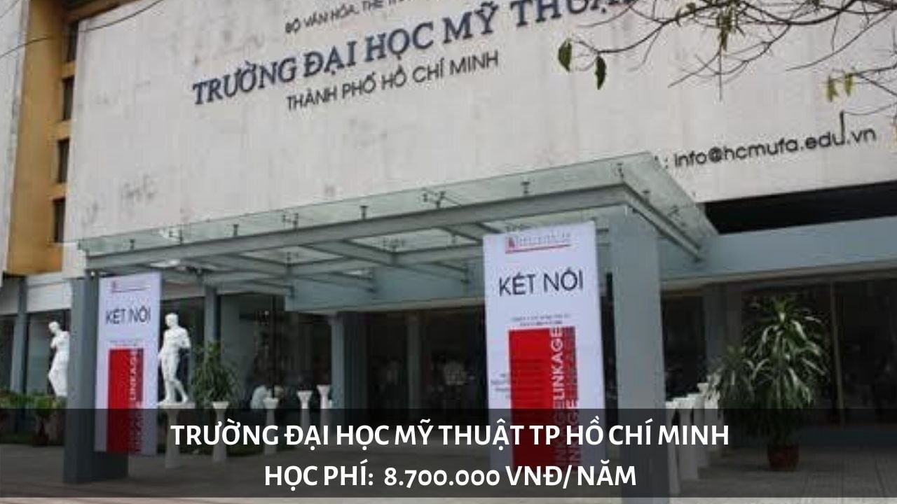 Học phí trường Đại học Mỹ Thuật TP Hồ Chí Minh