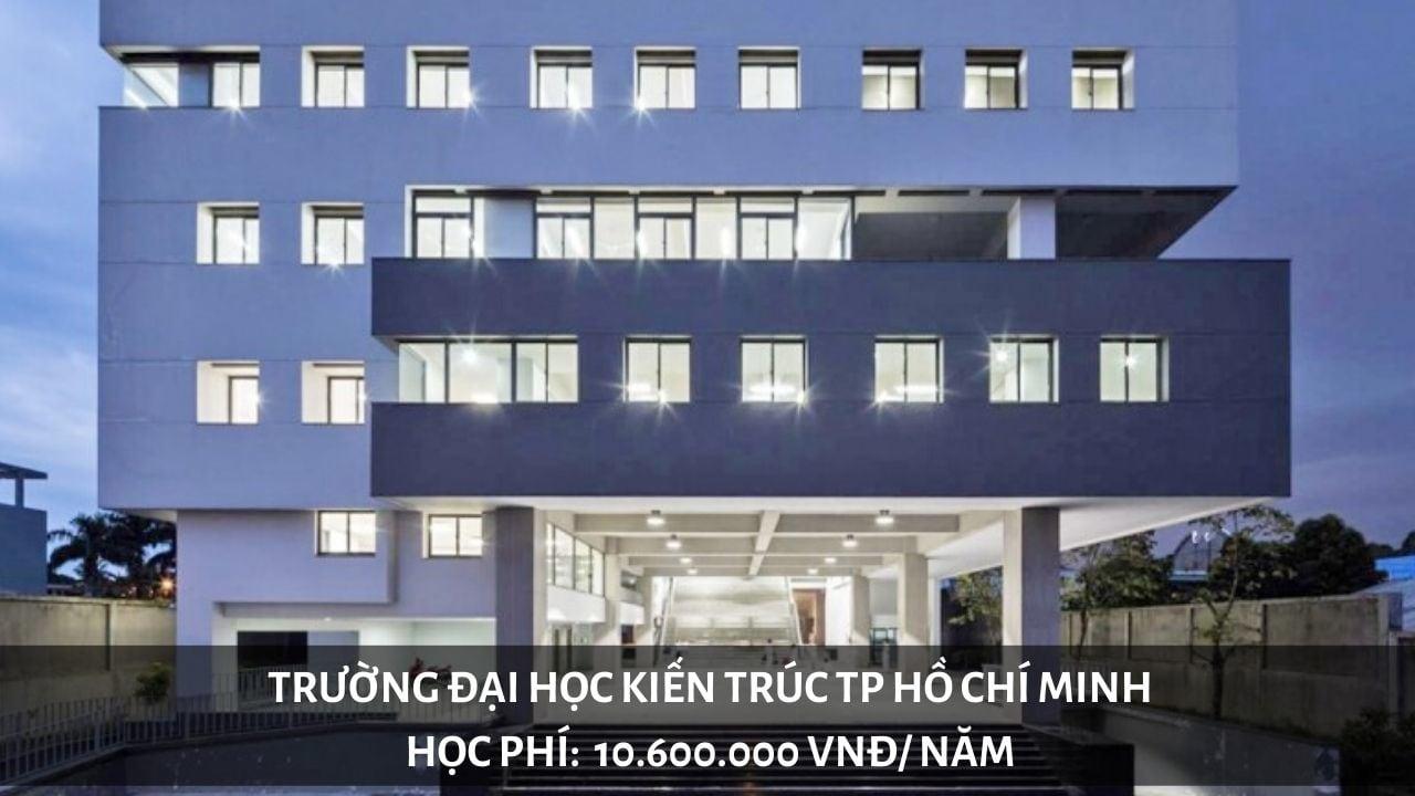 Học phí trường Đại học Kiến Trúc TP Hồ Chí Minh (năm 2019-2020)