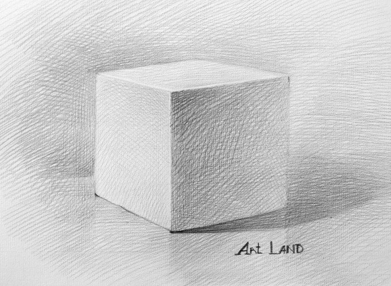 Cách vẽ khối vuông