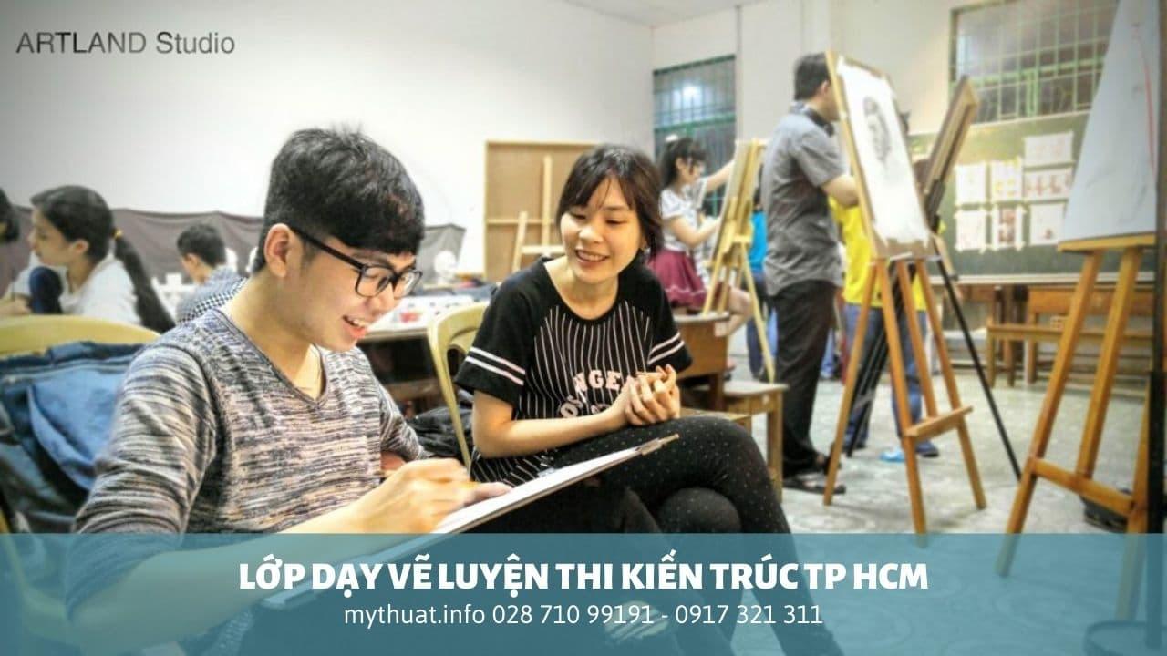 lớp dạy vẽ luyện thi kiến trúc tp hcm