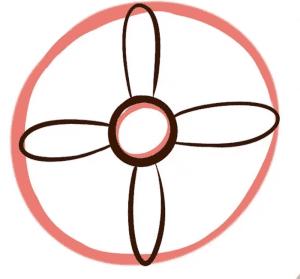cách vẽ bông hoa  HƯỚNG DẪN CÁCH VẼ BÔNG HOA ĐƠN GIẢN CHO BÉ C2 300x279