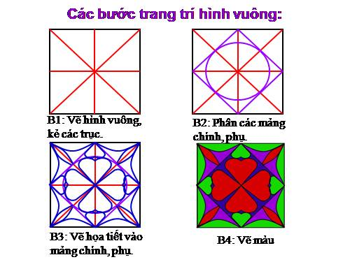 trang trí hình vuông