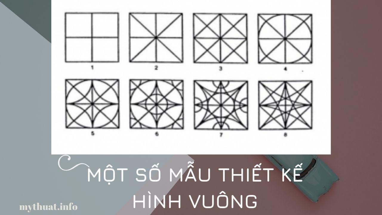 Một số mẫu thiết kế hình vuông (Nguồn Internet)
