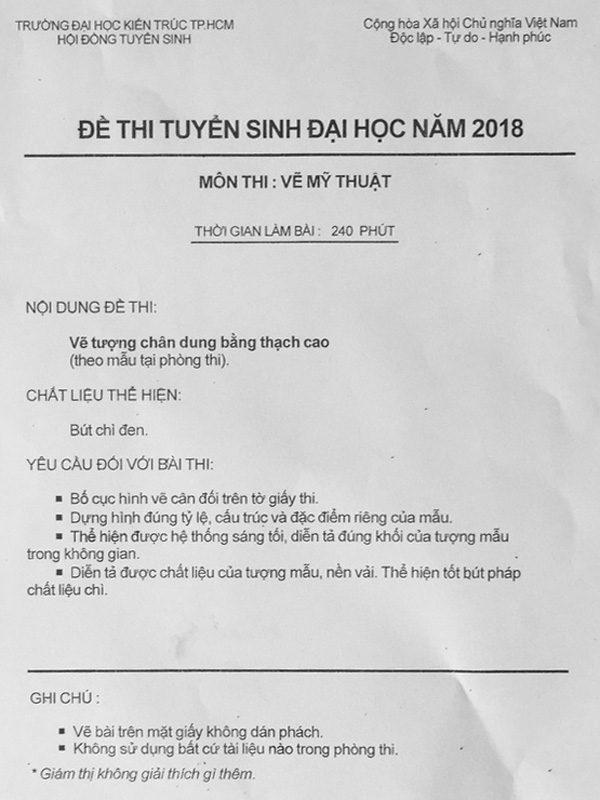 đề thi vẽ mỹ thuật 2018  HƯỚNG DẪN VẼ ĐỀ THI KIẾN TRÚC NĂM 2018 – ART LAND       thi v    m    thu   t 2018