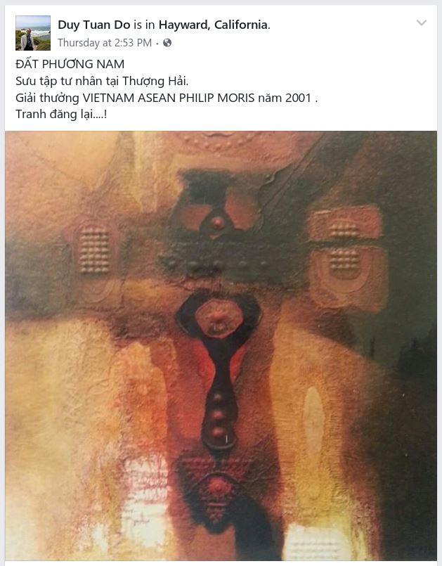 Họa sĩ Đỗ Duy Tuấn - giải thưởng VIETNAM ASEAN PHILIP MORIS năm 2001