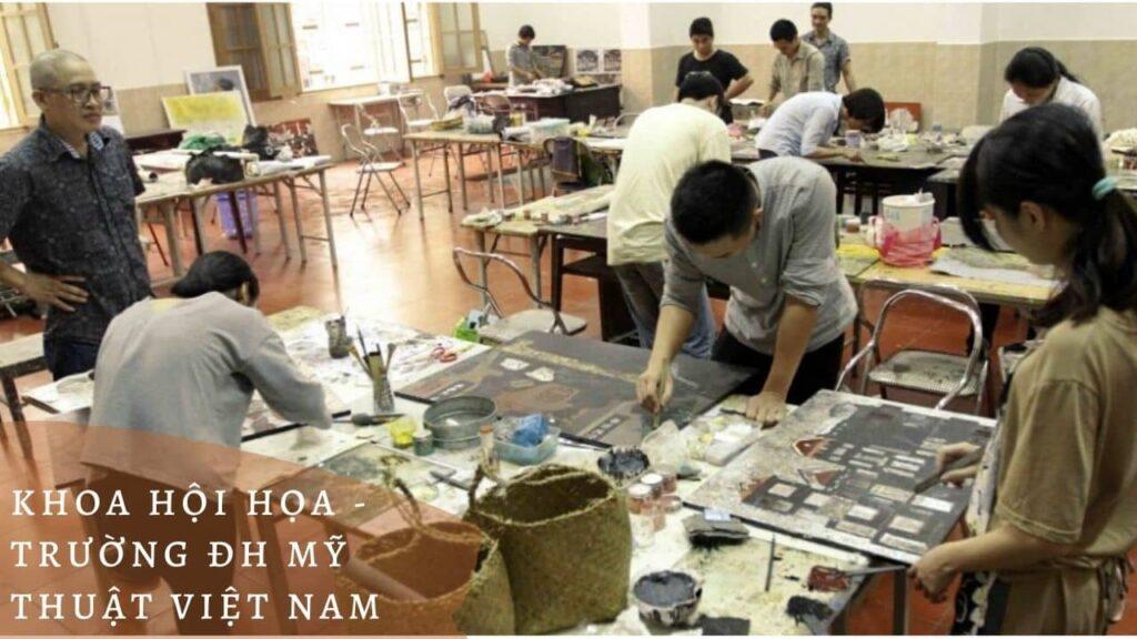 Hình 3: khoa hội họa - Trường Đh Mỹ thuật Việt Nam