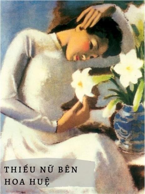 Hình 2: thiếu nữ bên hoa huệ
