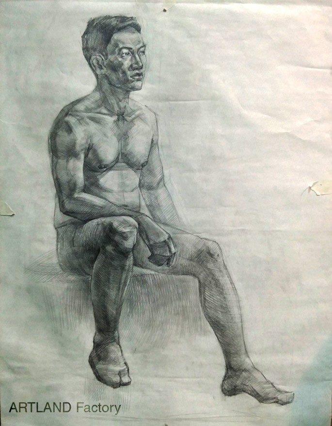 bài vẽ của học viên Art Land hình họa toàn thân  NGÀNH HỘI HỌA VÀ NHỮNG ĐIỀU CẦN BIẾT b  i v    c   a h   c vi  n Art Land h  nh h   a to  n th  n