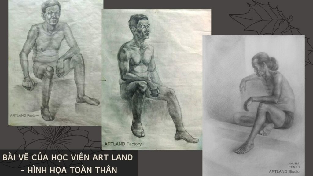 Hình 6: hình vẽ hội họa toàn thân của học viên Art Land