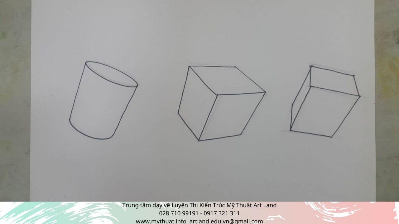 Hình 9: Khối trụ, khối vuông