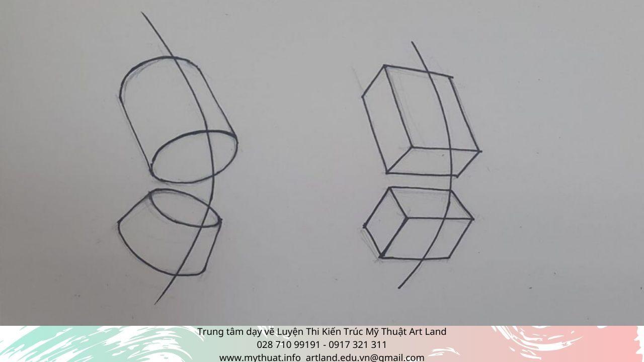 Hình 10: vẽ thân người theo khối trụ, khối vuông