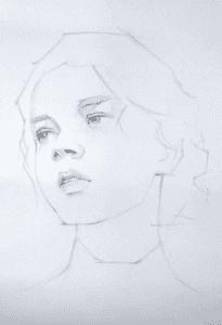 Dạy vẽ chân dung  Dạy vẽ chân dung – Những điều cơ bản cần nắm 1 3 205x300