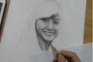Dạy vẽ chân dung  Dạy vẽ chân dung – Những điều cơ bản cần nắm 2 3 300x201
