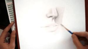 cách vẽ chân dung người bằng bút chì cơ bản Học cách vẽ chân dung người bằng bút chì cơ bản 3 300x168