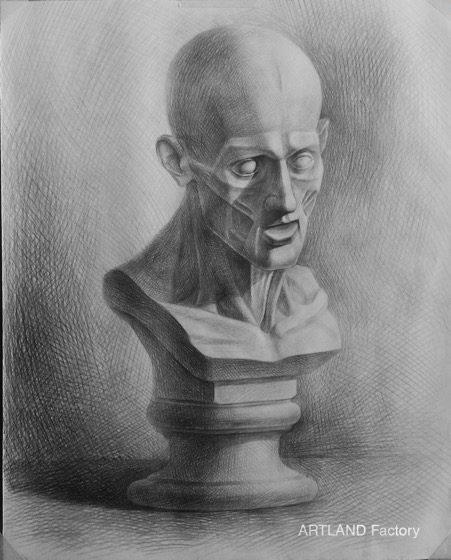 Bài luyện thi môn vẽ hình họa của học viên tại ArtLand