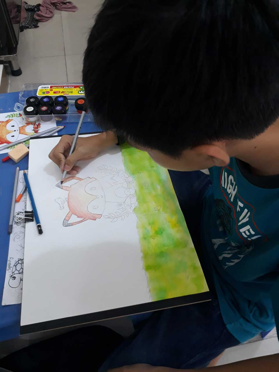 Lớp dạy vẽ thiếu nhi quận bình thạnh