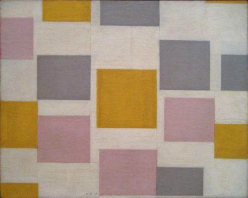 Composition with Color Planes (1917)  DANH HỌA PIET MONDRIAN, PHÂN TÍCH MỘT SỐ TÁC PHẨM TIÊU BIỂU Composition with Color Planes 1917