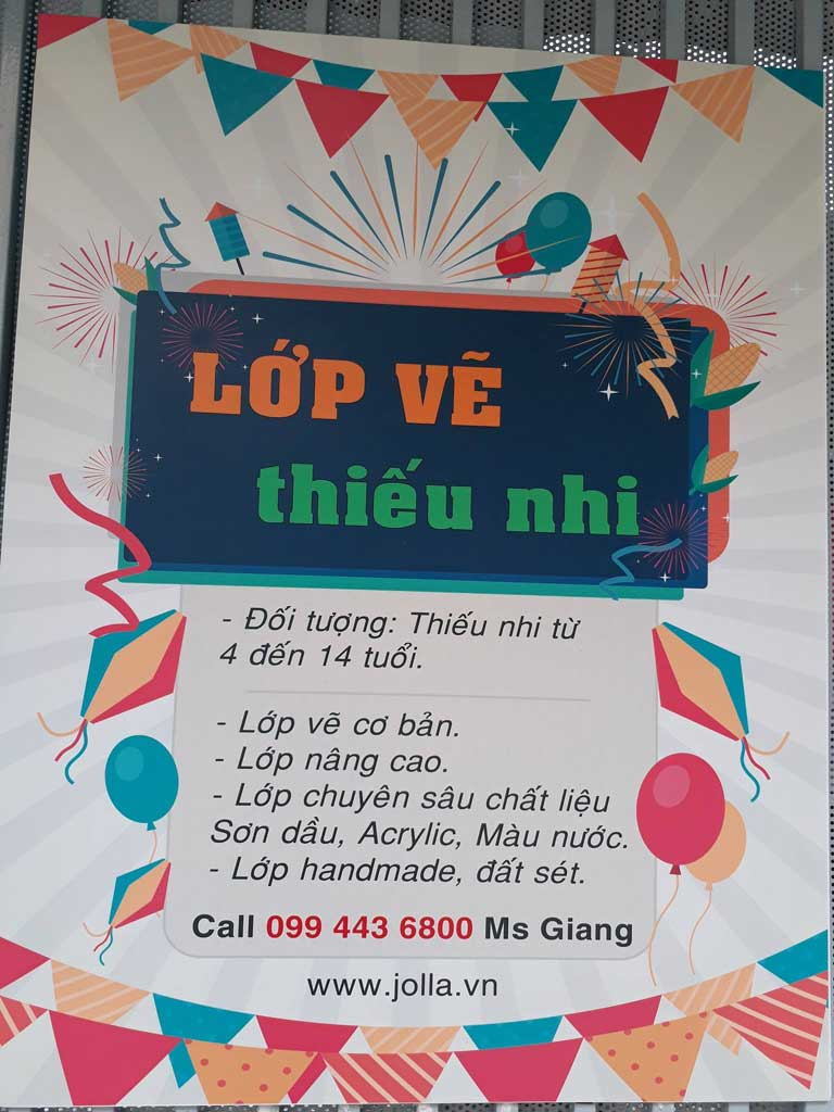 lớp vẽ thiếu nhi quận Tân Bình