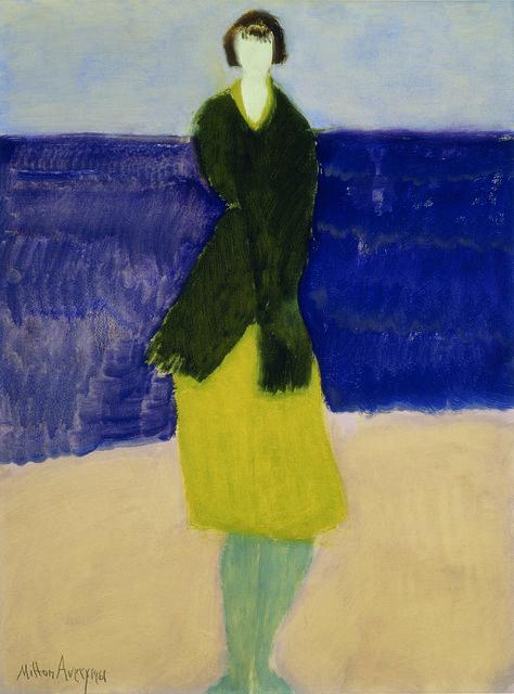 Milton Avery Walker by the Sea, 1961 American Federation of Arts  DẠY HỌC VẼ CHO TRẺ EM, PHƯƠNG PHÁP HIỆU QUẢ Milton Avery Walker by the Sea 1961 American Federation of Arts