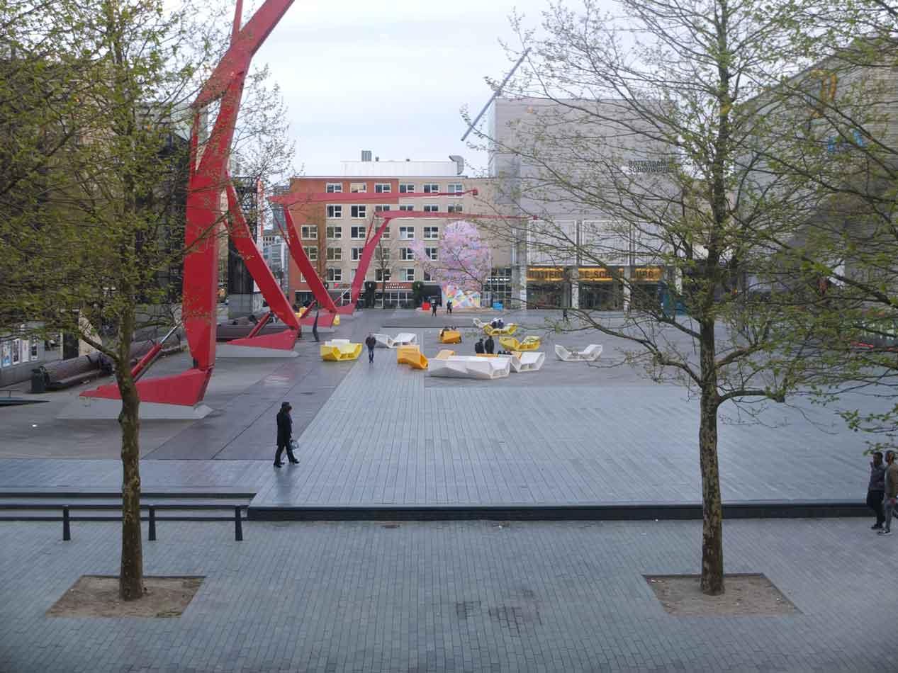 Schouwburgplein-in-Rotterdam,-Netherlands  CƠ HỘI VIỆC LÀM NGÀNH MỸ THUẬT ĐÔ THỊ Schouwburgplein in Rotterdam Netherlands