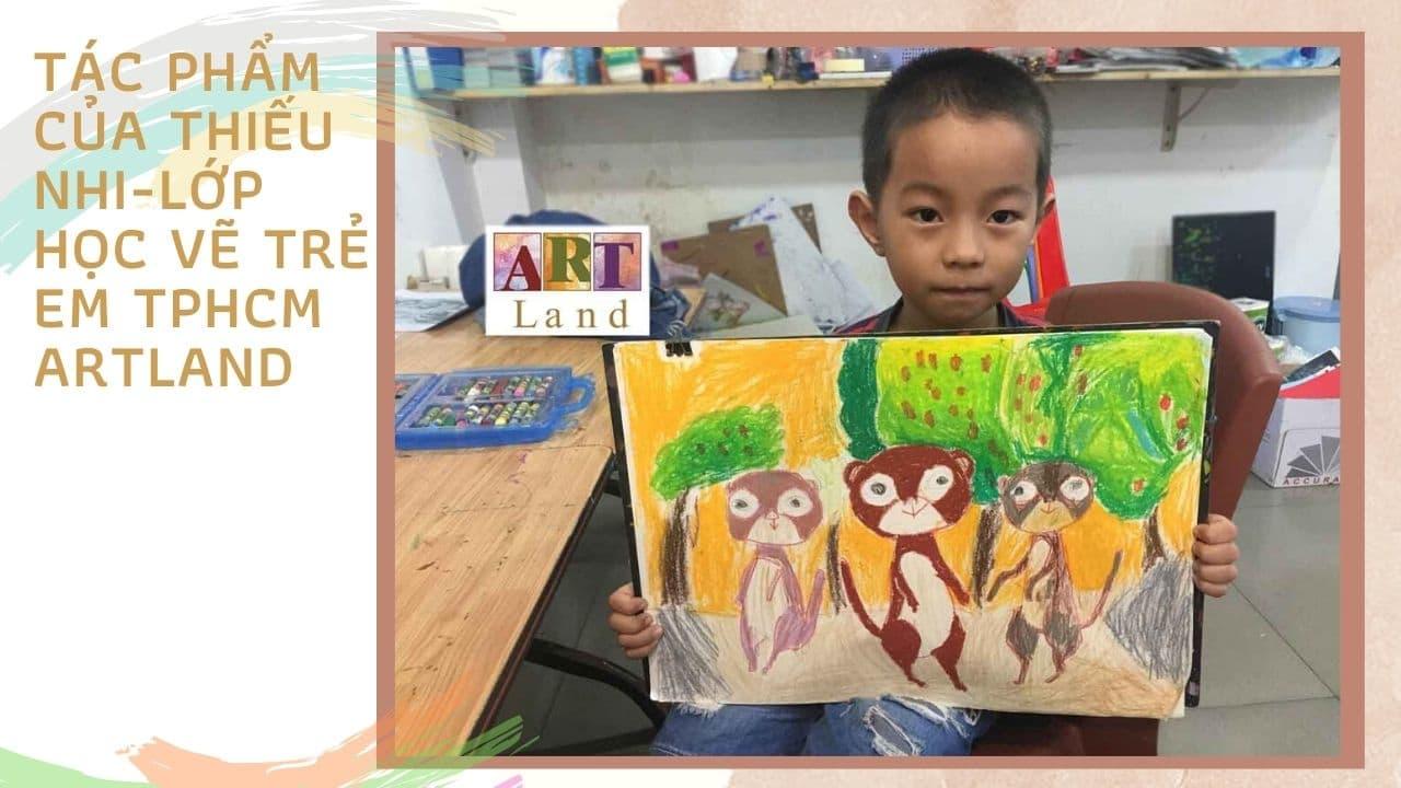 Tác phẩm của thiếu nhi - Lớp học vẽ trẻ em Art Land