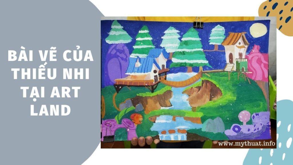 Bài vẽ của thiếu nhi tại Art Land