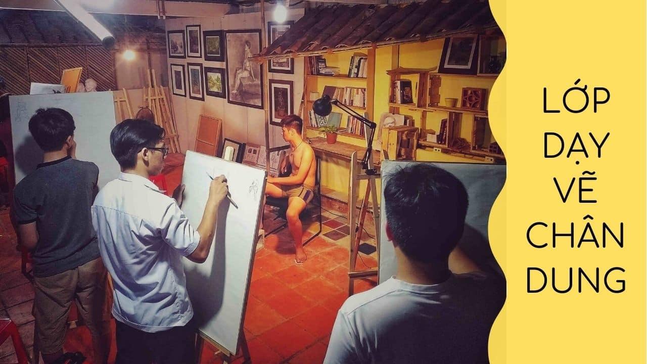 lớp dạy vẽ chân dung