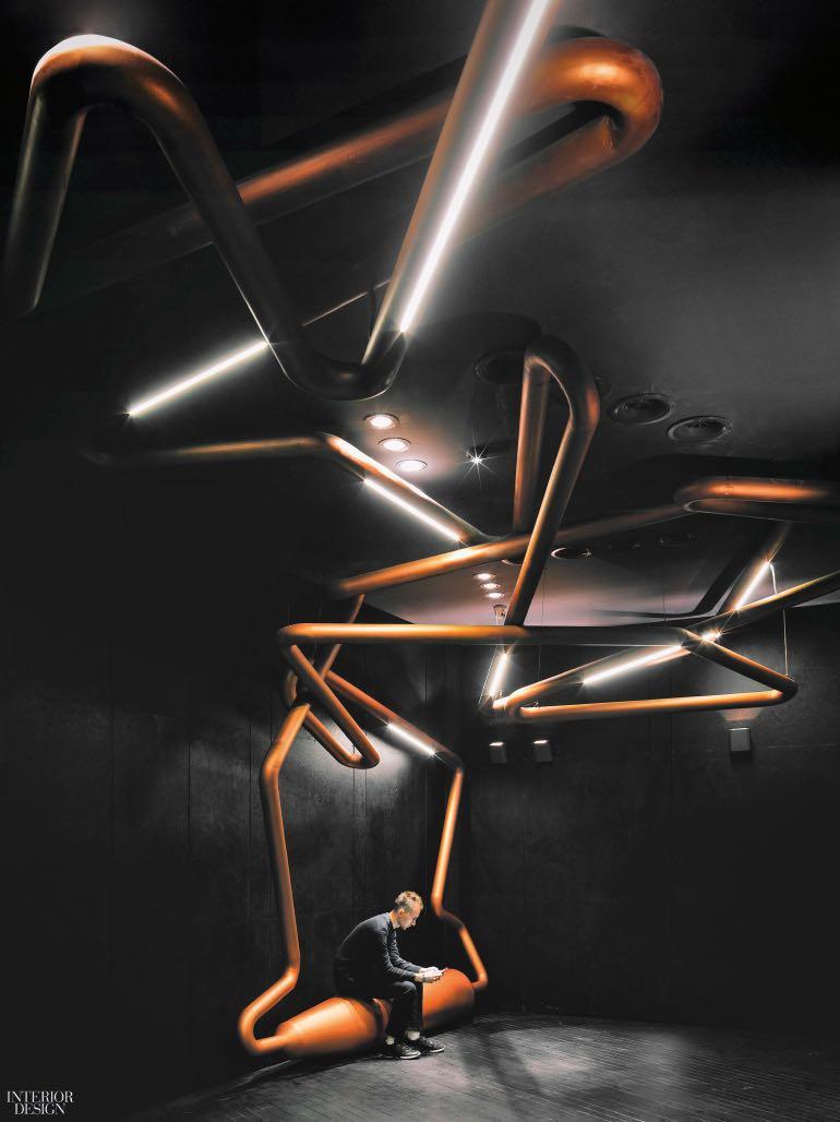 Tranh điêu khắc trên tường, Shanghai Omnijoi International Cinema in Shanghai, China. Photography by Jonathan Leijonhufvud  CÁC CÔNG TRÌNH THIẾT KẾ NỘI THẤT ẤN TƯỢNG NĂM 2017 one plus partnership shanghai omnijoi cinema wall ceiling tubing sculpture 1217