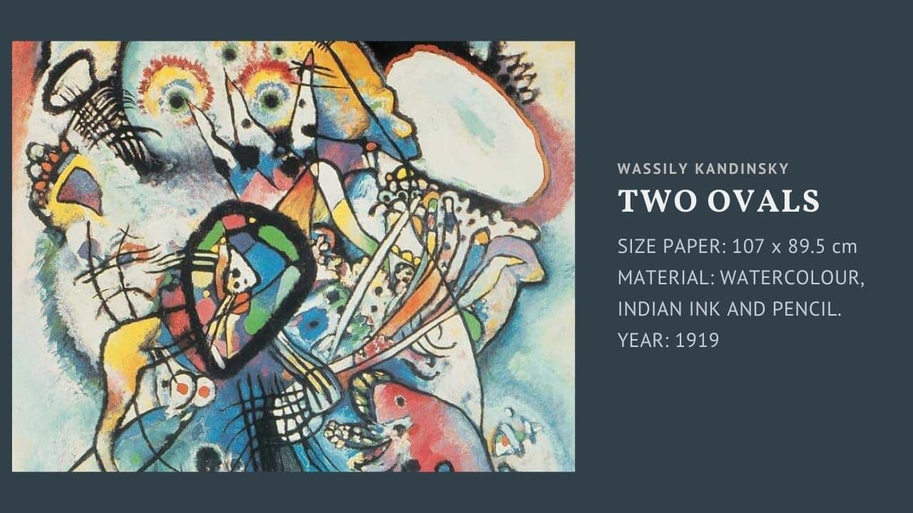 "Tranh của họa sĩ Wassily Kandinsky bức "" Two Ovals """