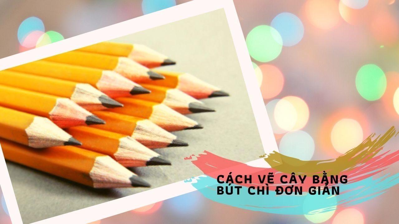 Cách vẽ cây bằng bút chì đơn giản