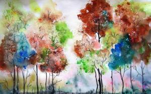 ký họa phong cảnh màu nước  Hướng dẫn một số kỹ thuật ký họa phong cảnh màu nước 1 5 300x187