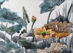 ký họa phong cảnh màu nước  Hướng dẫn một số kỹ thuật ký họa phong cảnh màu nước 2 5 300x217