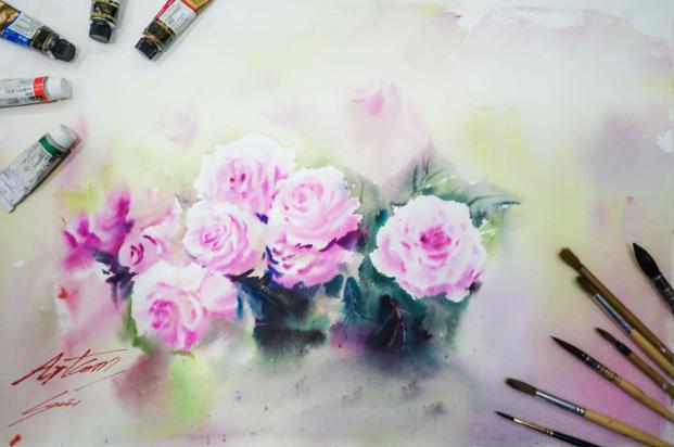 học vẽ màu nước  Hướng dẫn một số kỹ thuật cơ bản khi học vẽ màu nước 3 2