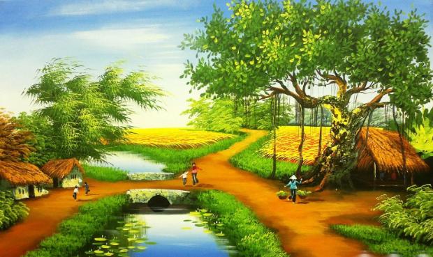học vẽ tranh phong cảnh  Những kỹ thuật học vẽ tranh phong cảnh đơn giản và đẹp 3 4
