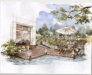 ký họa phong cảnh màu nước  Hướng dẫn một số kỹ thuật ký họa phong cảnh màu nước 3 5 300x245