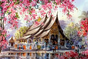 ký họa phong cảnh màu nước  Hướng dẫn một số kỹ thuật ký họa phong cảnh màu nước 4 5 300x201