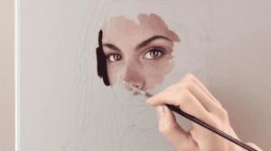 kỹ thuật vẽ chân dung  Hướng dẫn học một số kỹ thuật vẽ chân dung đẹp 4 6 300x168