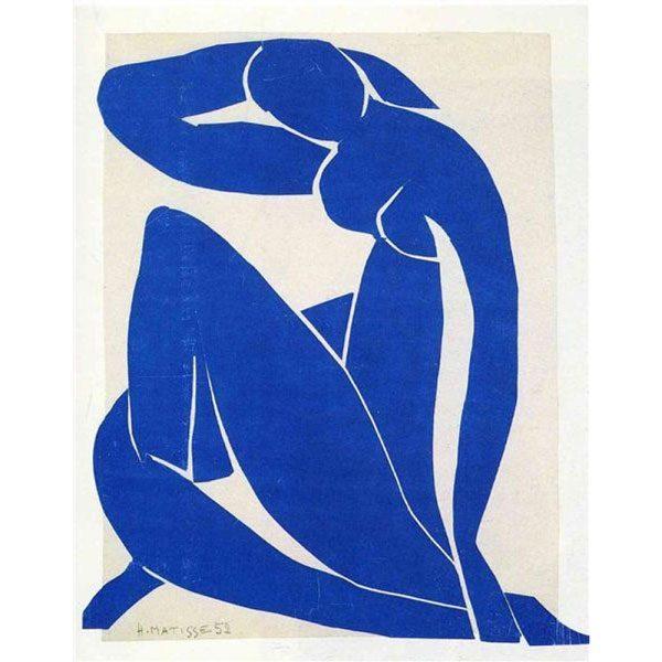 Blue-Nude-II-(1952) DANH HỌA HENRI MATISSE VÀ CÁC TÁC PHẨM NGHỆ THUẬT NỔI TIẾNG Blue Nude II 1952