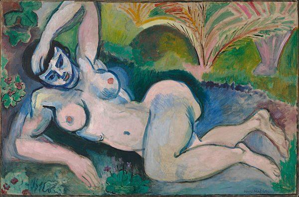 Blue Nude (Souvenir de Biskra) (1907) DANH HỌA HENRI MATISSE VÀ CÁC TÁC PHẨM NGHỆ THUẬT NỔI TIẾNG Blue Nude Souvenir de Biskra 1907 1