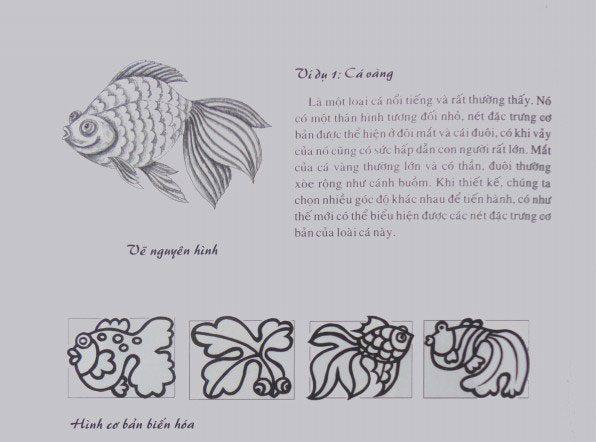 Cách-điệu-họa-tiết-cá  HƯỚNG DẪN VẼ TRANG TRÍ HÌNH TRÒN BỐ CỤC ĐĂNG ĐỐI C  ch   i   u h   a ti   t c