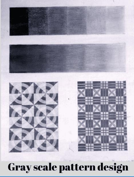 Bài tập vẽ hòa sắc_Gray scale pattern design