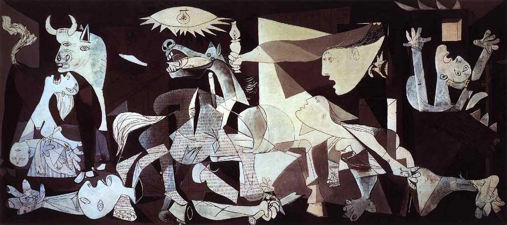 Guernica-(1937) DANH HỌA PABLO PICASSO VÀ CÁC TÁC PHẨM TIÊU BIỂU Guernica 1937